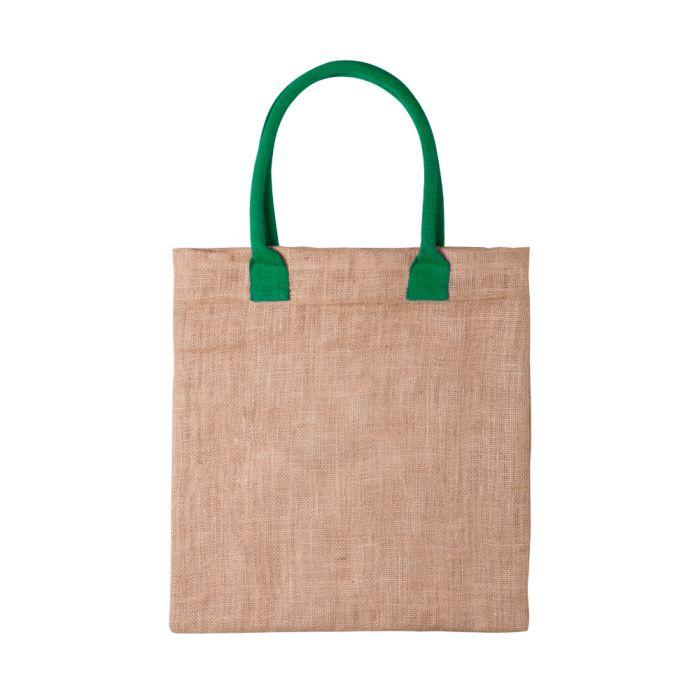 b4908b5de999 Céges Kalkut bevásárló táska, zöld Emblémázva