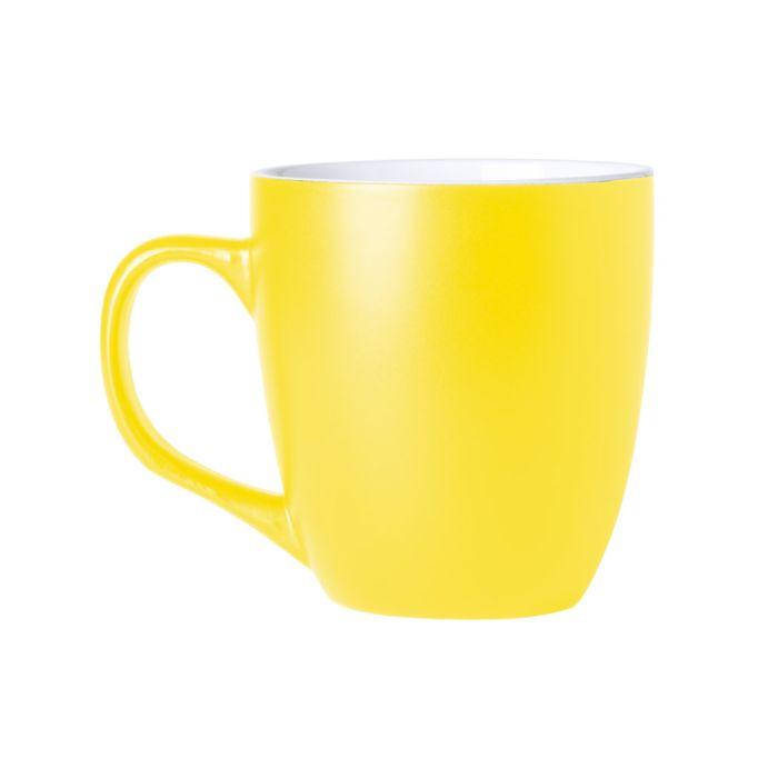 24a91173a9 Kreatív reklámtárgy: Mabery bögre, sárga, 400 ml